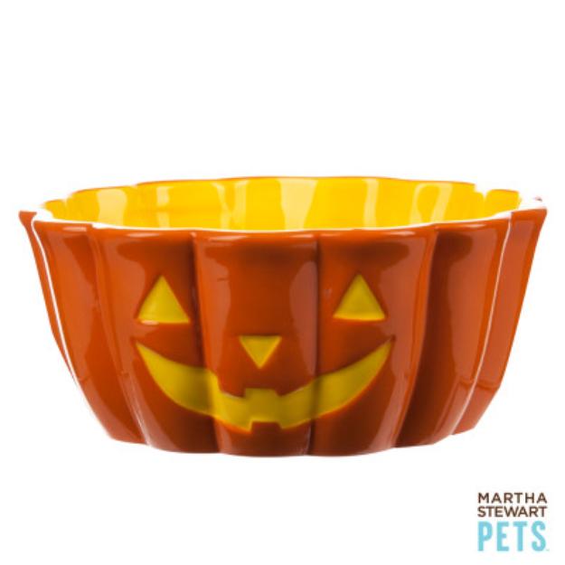 Martha Stewart PetsA Jack O' Lantern Dog Bowl