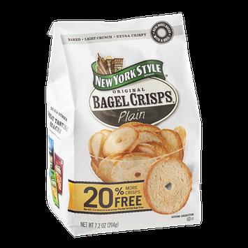 New York Style Original Bagel Crisps Plain