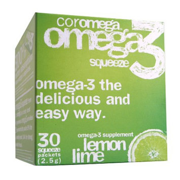 Coromega Omega 3 Squeeze Lemon Lime Dietary Supplement Packets
