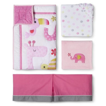 Snooz 'n Safari Girl 4pc Crib Bedding Set by Circo
