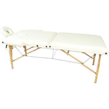 Auwit Professional Portable 3 Foam Folding Massage Table w/Face Cradle & Case-White