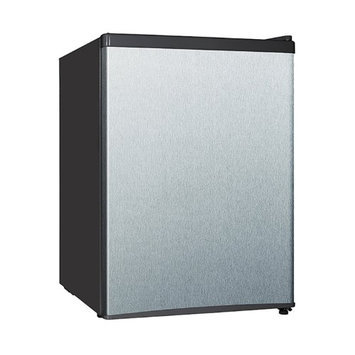 Equator-midea - 2.4 Cu. Ft. Compact Refrigerator - Stainless-steel