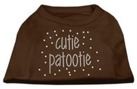 Ahi Cutie Patootie Rhinestone Shirts Brown XXXL (20)
