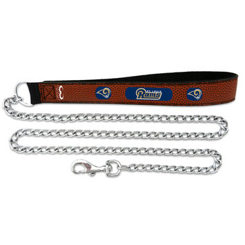 Game Wear Inc NFL St. Louis Rams Leather Chain Leash LG