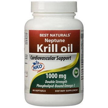 1 Krill Oil 1000 Mg 60 Softgels By Best Naturals - Featuring Neptune Krill Oil (Nko)