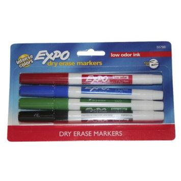 Sanford EXPO 4ct Asst. Fine tip Dry Erase Marker