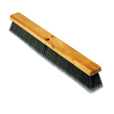 Proline Brush Floor Push Broom Brush Head, Hardwood, 24