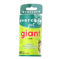 Evercare Pet Giant Roller Refill, 60 ea