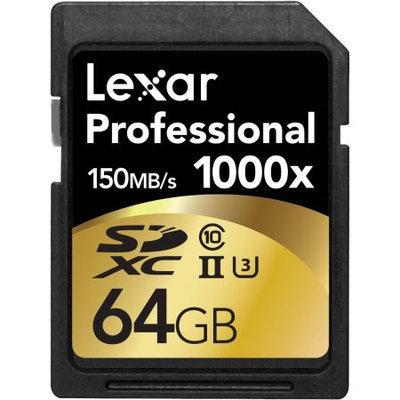 Lexar 64GB Professional 1000x SDHC/SDXC UHS-II Memory Card