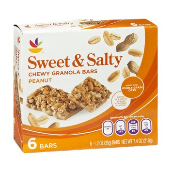 Ahold Sweet & Salty Peanut Chewy Granola Bars-6 CT