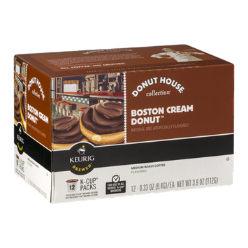 Donut House Collection Boston Cream Donut Medium Roast Coffee K-Cup Packs - 12 CT