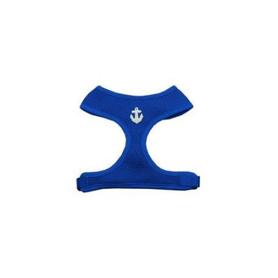 Mirage Pet Products 73-14 SMBL White Anchors Chipper Blue Harness Small