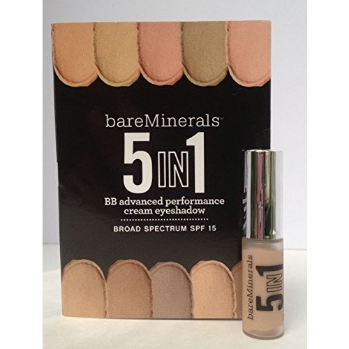 bareMinerals 5-in-1 BB Performance Cream Eyeshadow BARELY NUDE 1ml Mini Travel Size by Bare Escentuals