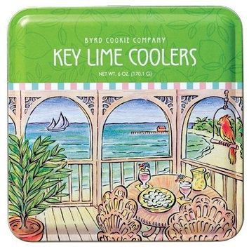 Byrd Cookie Company, Key Lime Coolers, 6-Ounce Traditional Tins (Pack of 2)