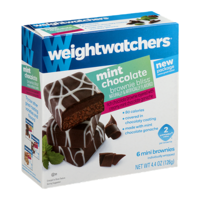 Weight Watchers Mint Chocolate Brownie Bliss Mini Brownies - 6 CT