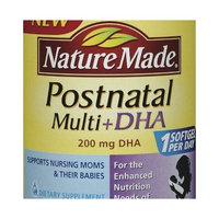 Nature Made Postnatal Multi Vitamins + DHA 200 Mg 150 Softgels