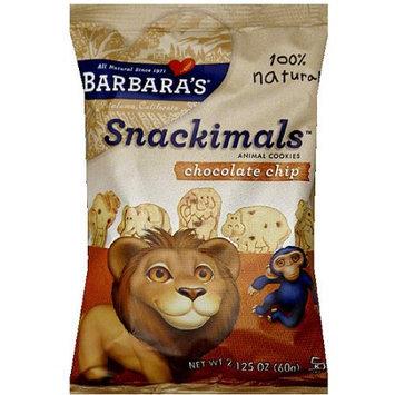 Barbaras Barbara's Snackimals Chocolate Chip Animal Cookies, 2.125 oz (Pack of 18)