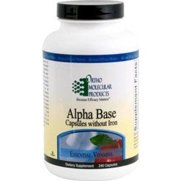 Ortho Molecular - Alpha Base Caps without Iron - 240 Capsules
