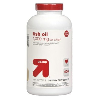 Up up up up fish oil 1000 mg softgels 400 count for Fish oil 1000 mg