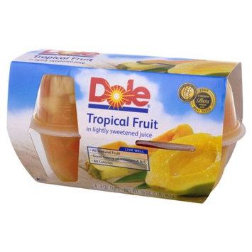 Dole Fruit Bowls Fruit Bowls Tropical Fruit in 100% Fruit Juice, 16 OZ (Pack of 6)