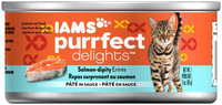 Iams Purrfect Delicacies Salmon-dipity Entrée Wet Cat Food, 3 Oz (Case of 24)