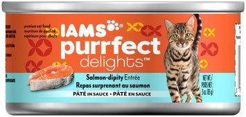 Iams Purrfect Delicacies Salmon-dipity Entrée Wet Cat Food, 3 Oz (Case of 24)