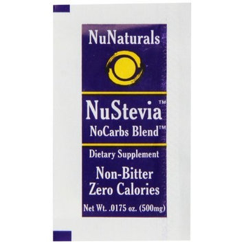 NuNaturals NuStevia No Carb Blend, 1,000 Packets