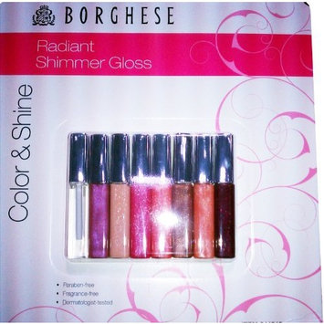 Borghese Radiant Shimmer Lip Gloss Color & Shine 8 PC collection