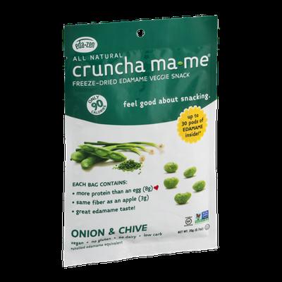 Cruncha Ma-Me Freeze-Dried Edamame Veggie Snack Onion & Chive