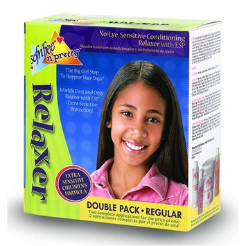 Sofn'free n'pretty No-Lye Sensitive Conditioning Relaxer Double Pack for Regular Hair