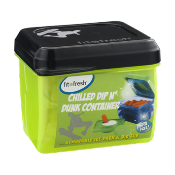Fit & Fresh Chilled Dip N' Dunk Container with Removable Ice Pack & Dip Cup