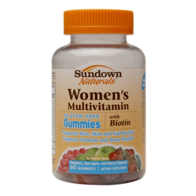 Sundown Naturals Women's Multivitamin with Biotin Gluten-Free Gummies, 60 ea