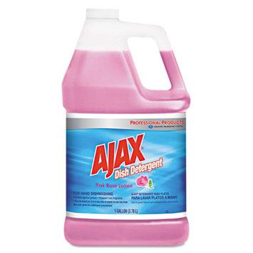 Ajax Dish Detergent, Pink Rose, 1 gal Bottle, 4/Carton