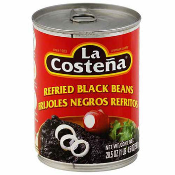 La Costena Refried Black Beans