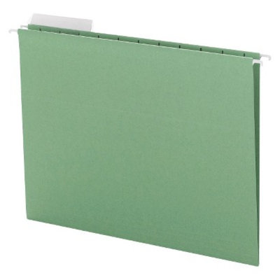 Smead Color Hanging Folders with 1/3-Cut Tabs, 11 Point Stock - Green (25