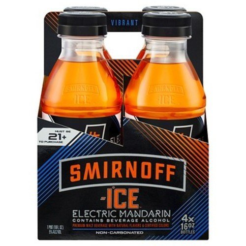 Smirnoff Ice Electric Mandarin 4pk Bottles