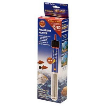 Cascade Submersible Aquarium Heater: 75 Watt - 8