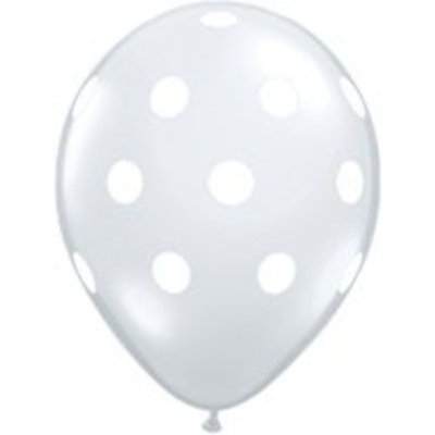 Smith & Wollensky POLKA Dots CLEAR and WHITE Dotted (6) 11