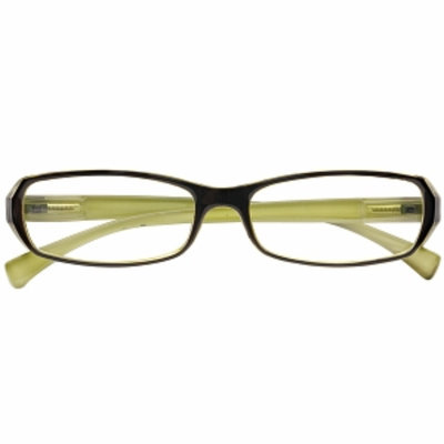 Zoom Eco-Friendly Reading Eyewear 3/4 Eye Plastic Rectangle Frame with Spring Hinges