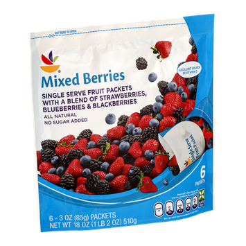 Ahold Mixed Berries Single Serve Fruit Packets - 6 CT
