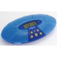 Apex Healthcare Products Blue Weekly Pill Turtle XL With Reminder Clock