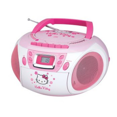 Spectra Hello Kitty Stereo CD Boombox w/ Cassette Player & AM/FM