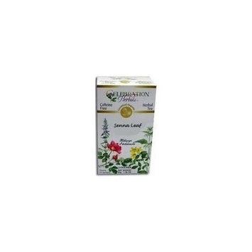 ORGANIC CONNECTIONS,LTD Senna Leaf Tea Organic by Celebration Herbals - 24 Bags ( Multi-Pack)