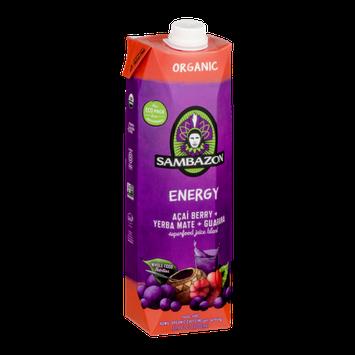 Sambazon Energy Superfood Juice Blend Acai Berry + Yerba Mate + Guarana
