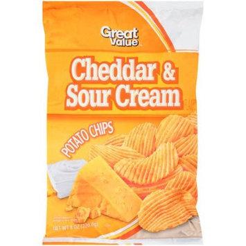 Great Value Cheddar & Sour Cream Potato Chips, 8 oz