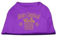 Ahi Golden Christmas Present Dog Shirt Purple Lg (14)