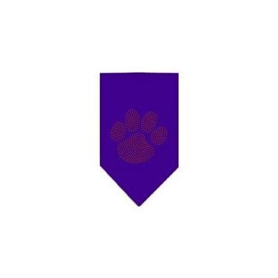 Ahi Paw Red Rhinestone Bandana Purple Large