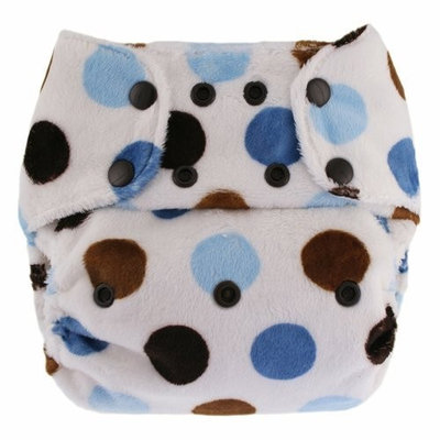 Blueberry Minky Diaper Snaps, Blue Pop