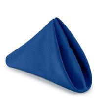 Lanns Linens Lann's Linens - 1 Dozen 17 in. Cloth Dinner Napkins w/ Hemmed Edges - Royal Blue