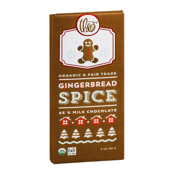 Theo Organic & Fair Trade Chocolate Gingerbread Spice 45% Milk Chocolate
